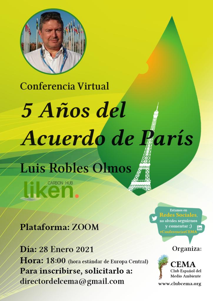 conferencia 5 años del acuerdo de París